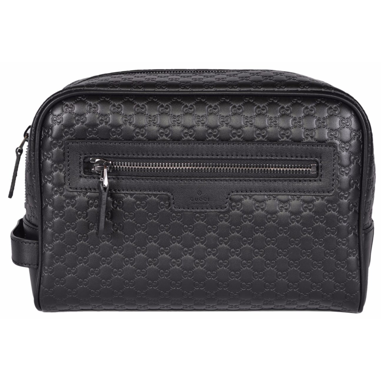 a63d8f80db5c Shop Gucci Men's 419775 Black Leather Micro GG Guccissima Large Toiletry  Dopp Bag - Free Shipping Today - Overstock - 14085700