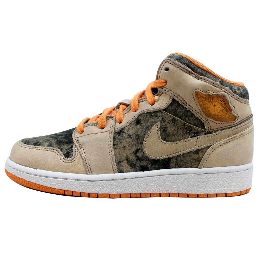 a1bf6059ebede3 Shop Nike Air Jordan 1 Birch Light Melon-Black 322678-281 Grade-School -  Free Shipping Today - Overstock - 20129045