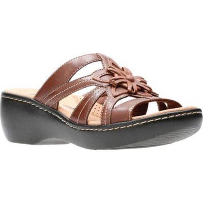 07c83166c744 Shop Clarks Women s Delana Venna Slide Brown Multi Full Grain ...