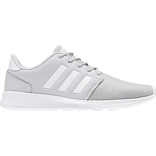 finest selection 2b3a8 b6bb6 Shop adidas Women s Cloudfoam QT Racer Sneaker Grey One F17 FTWR White Grey  Two F17 - On Sale - Free Shipping Today - Overstock - 20722382