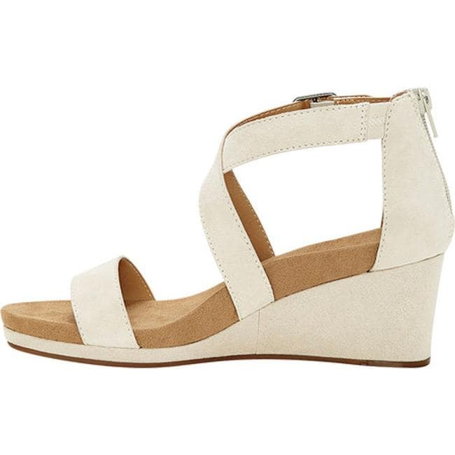 525c71abd621 Shop Lucky Brand Women s Kenadee Wedge Sandal Sandshell Kid Suede - Free  Shipping Today - Overstock - 21727646