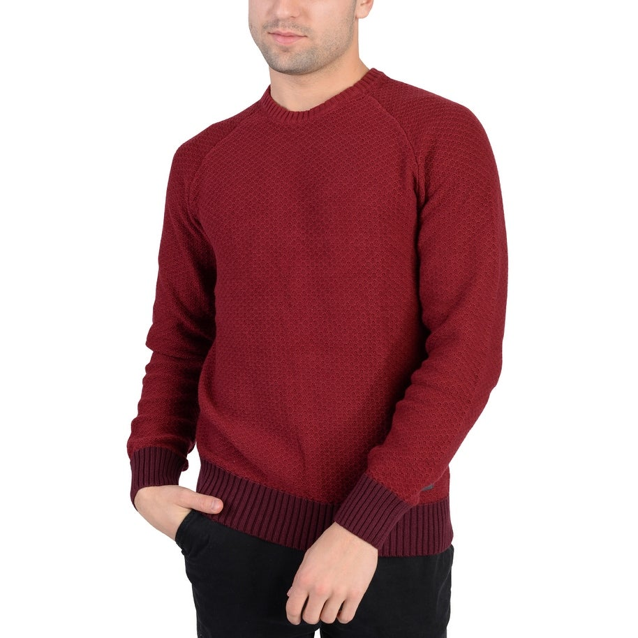 71cac64c3f0b Shop Adidas Mens Chunky Crew Neck Sweater Red Maroon - Free Shipping ...
