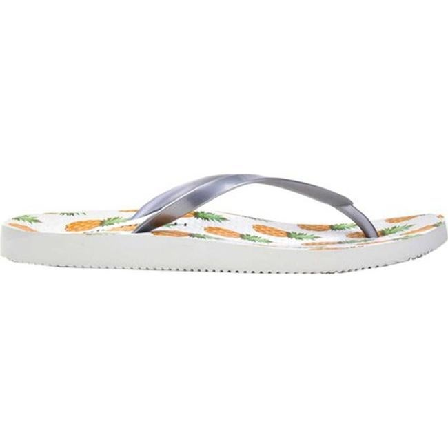 24460db1a9ff Shop Vionic Women s Noosa Flip Flop Sandal Silver Pineapple - Free Shipping  On Orders Over  45 - Overstock - 26969812