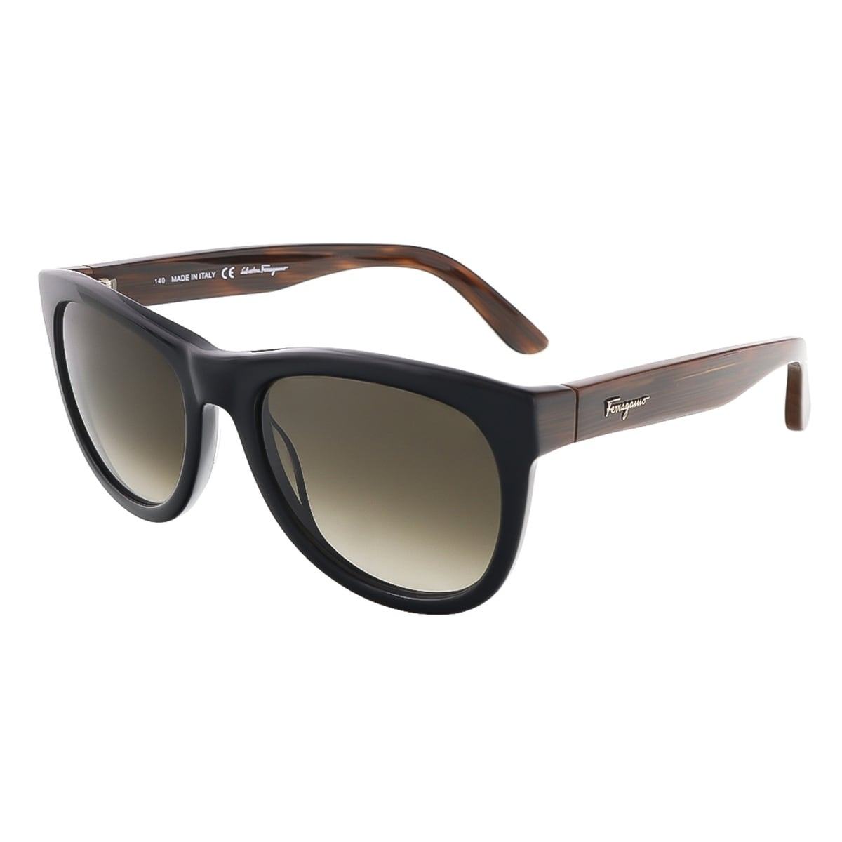 5af4e14b2ae Shop Salvatore Ferragamo SF685S 001 Black Rectangle sunglasses ...
