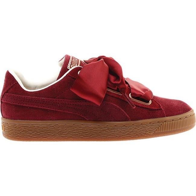 026f73b1324797 Shop PUMA Women s Basket Heart Corduroy Sneaker Pomegranate Pomegranate -  On Sale - Free Shipping Today - Overstock - 25558895