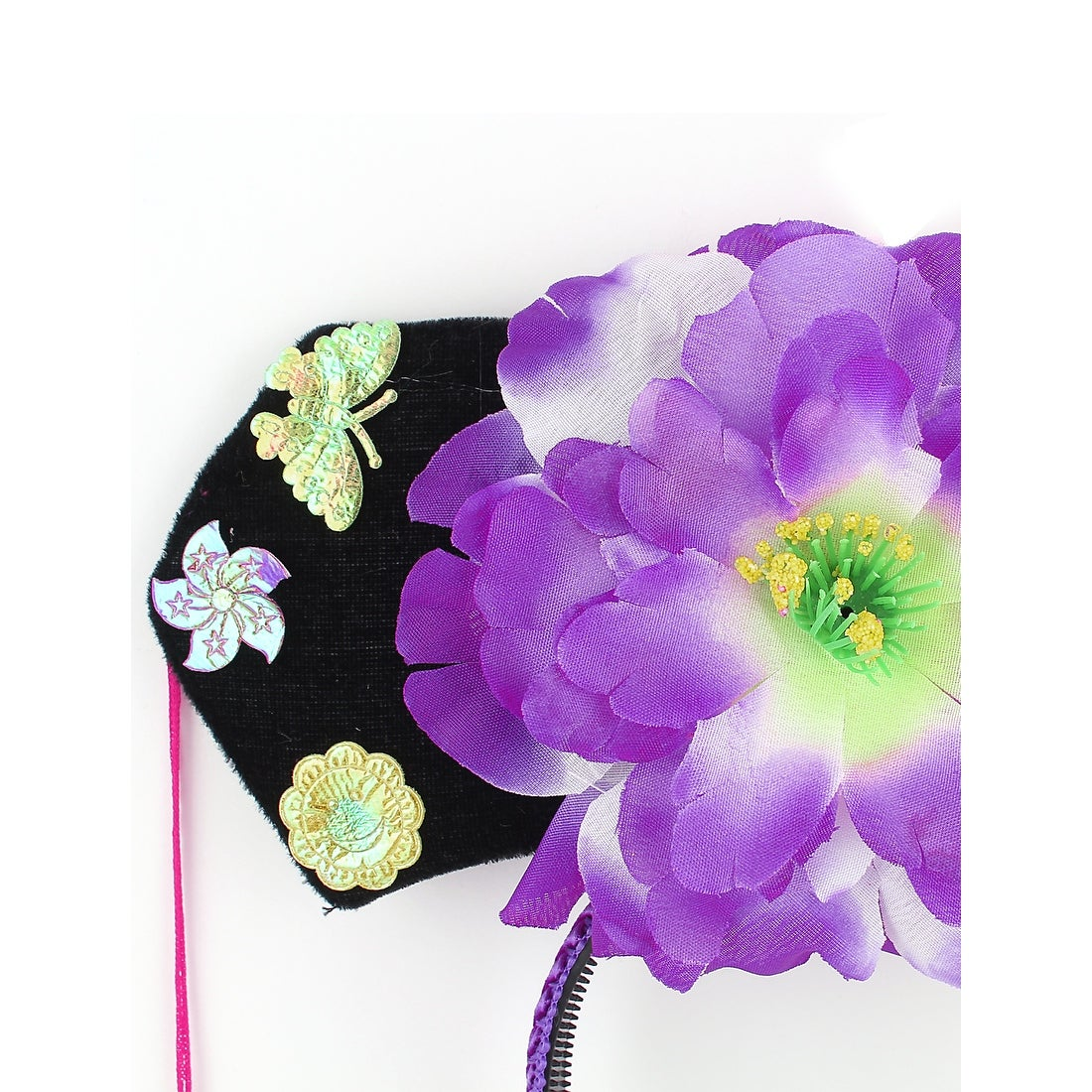 cba9a78e960 Shop Unique Bargains Girls Tassels White Purple Peony Accent Oriental  Chinese Princess Hairband Hat - Free Shipping On Orders Over  45 -  Overstock.com - ...