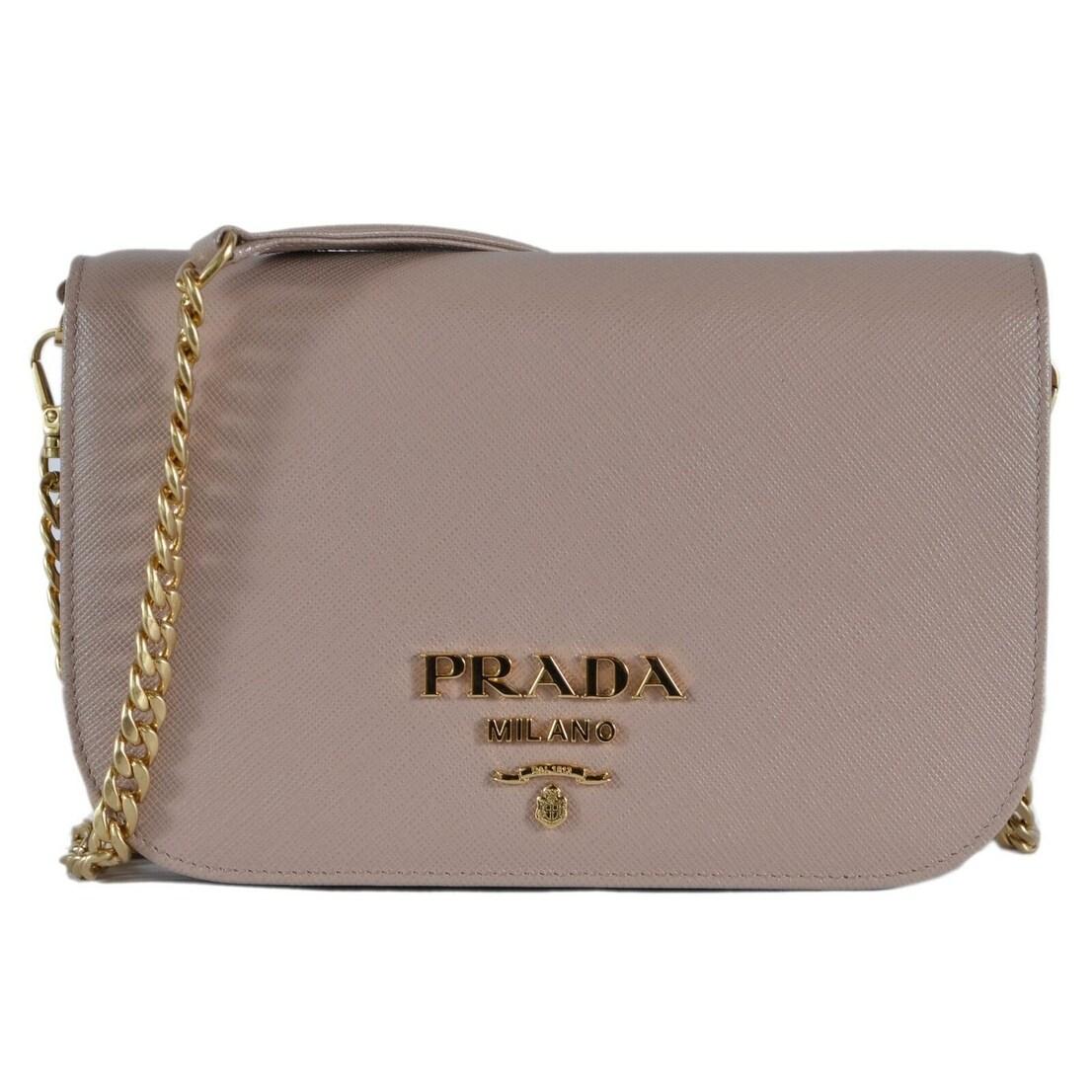 Shop Prada 1BP013 Cipria Borsa Portafoglio Saffiano Lux Small Crossbody Purse  Bag - Beige - Free Shipping Today - Overstock - 27423067 80352a0f442de