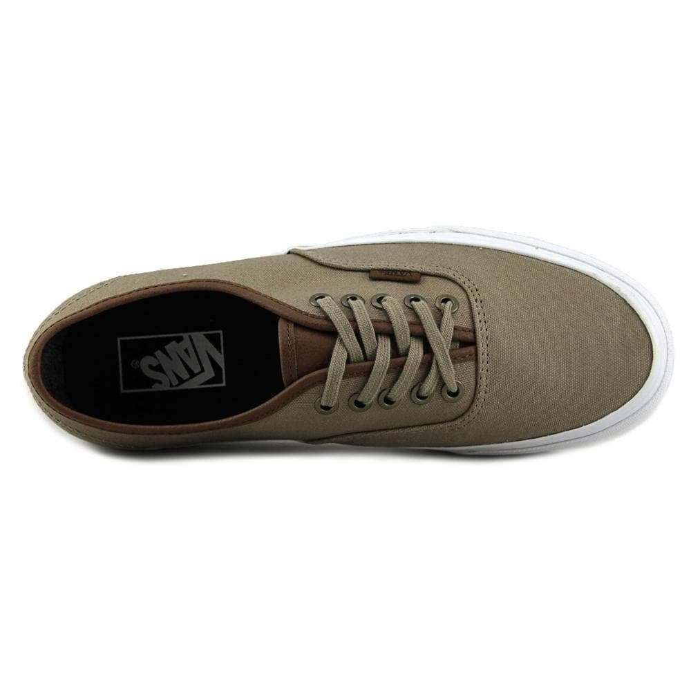 a919898cf5 Shop Vans Authentic Men Round Toe Canvas Tan Skate Shoe - Free Shipping On  Orders Over  45 - Overstock - 14554055