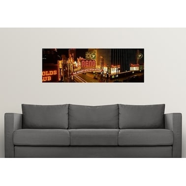 Shop Poster Print Entitled Biggest Little City In The World Sign Lit Up At  Night Reno Washoe County Nevada   Multi Color   Free Shipping On Orders  Over $45 ...