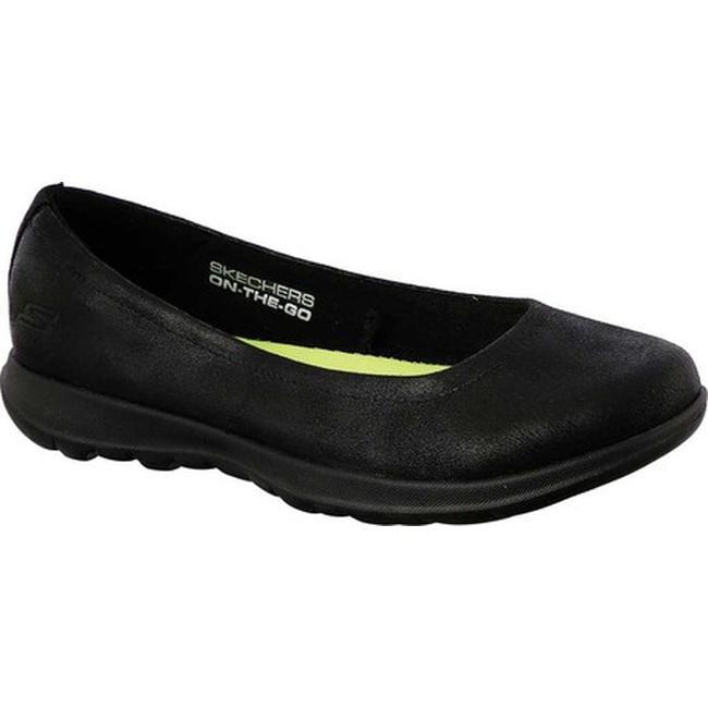 f20900948717 Shop Skechers Women s GOwalk Lite Gem Skimmer Black Black - Free ...