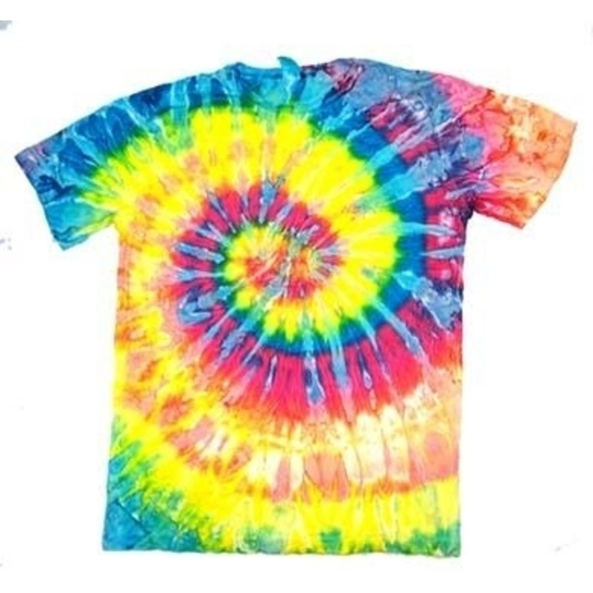 c57dc4e11aca Shop ADULT LARGE SLIM FIT NEON RAINBOW TIE DYE TEE SHIRT 4 mens womens  SWIRL - Free Shipping On Orders Over  45 - Overstock - 27162899