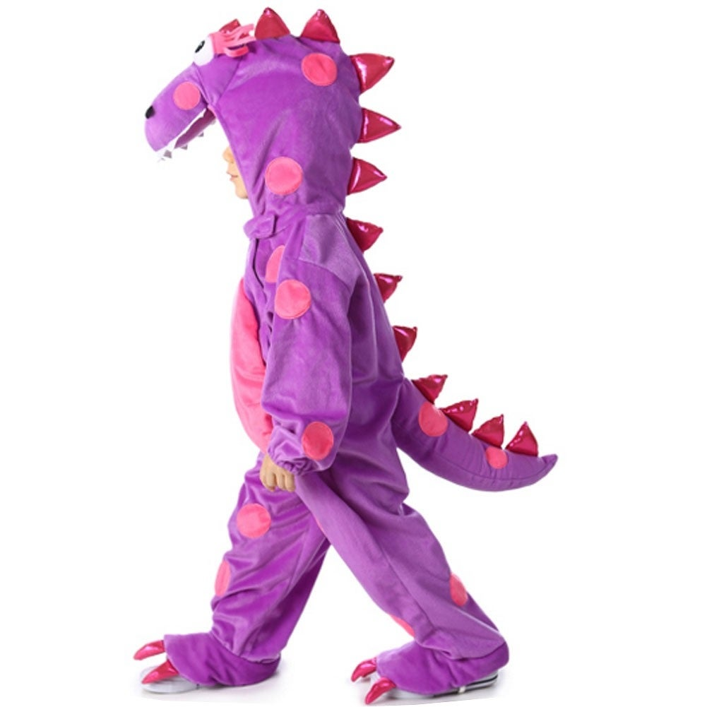 28989ca5865 Baby Girls Purple Pink Teagan The Dragon Hooded Halloween Costume 18M-2T