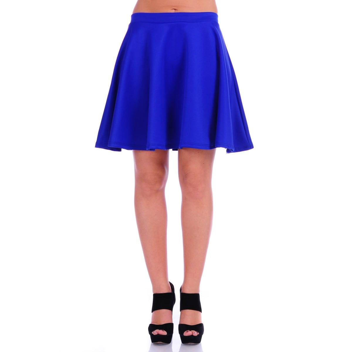 ce5911c2874c6c Shop Simply Ravishing Women's Basic Stretch Flared Skater Mini Skirt - Free  Shipping On Orders Over $45 - Overstock - 11807341