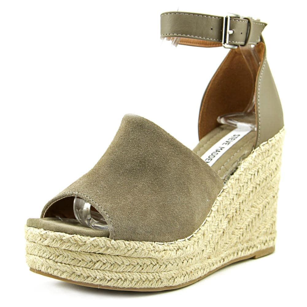ce4620aa808d Shop Steve Madden Jaylen Women Open Toe Suede Gray Wedge Sandal - Free  Shipping Today - Overstock.com - 15287838