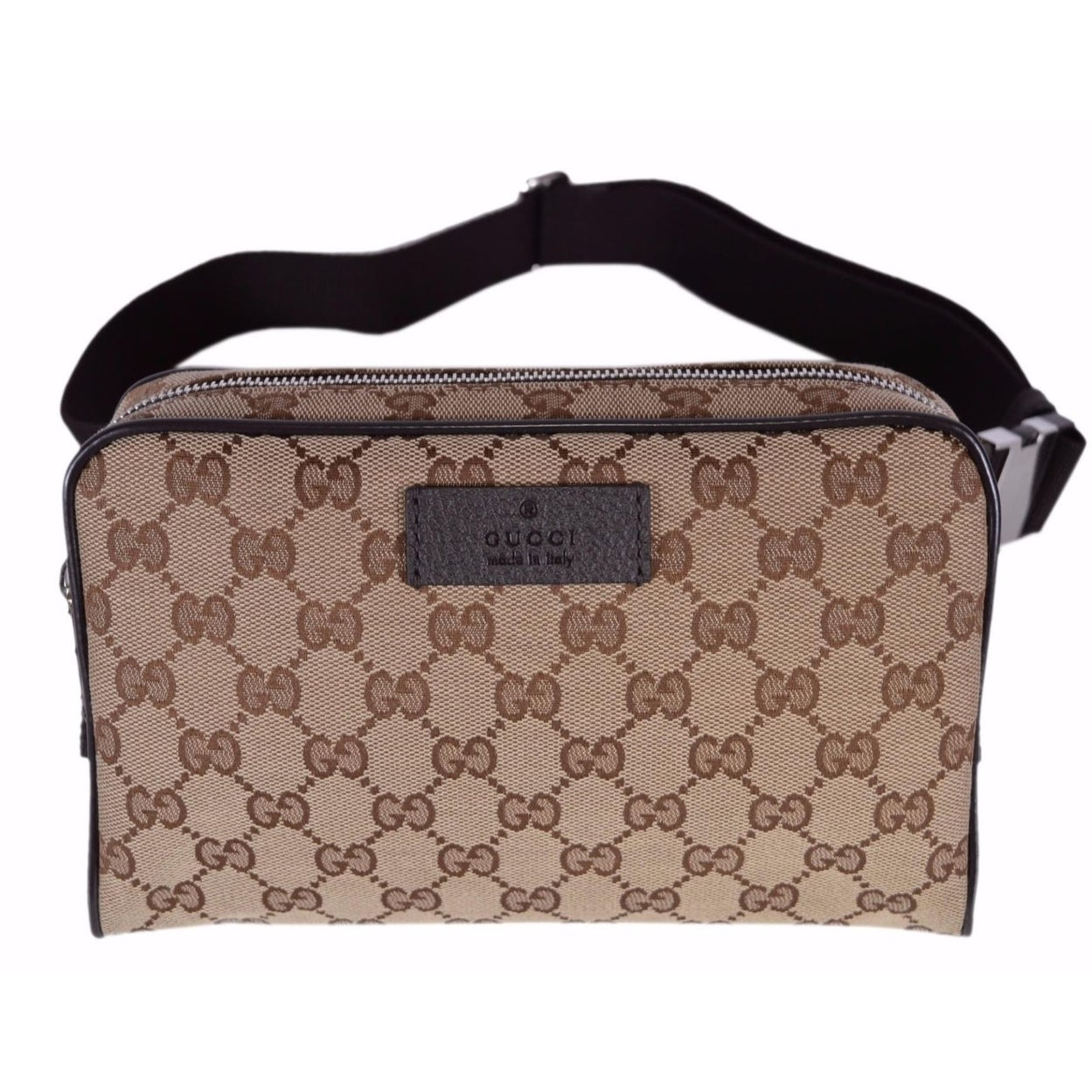 01dcd10d5698 Gucci 449174 GG Guccissima Small Canvas GG Waist Belt Fanny Pack Bag -  Brown - 9