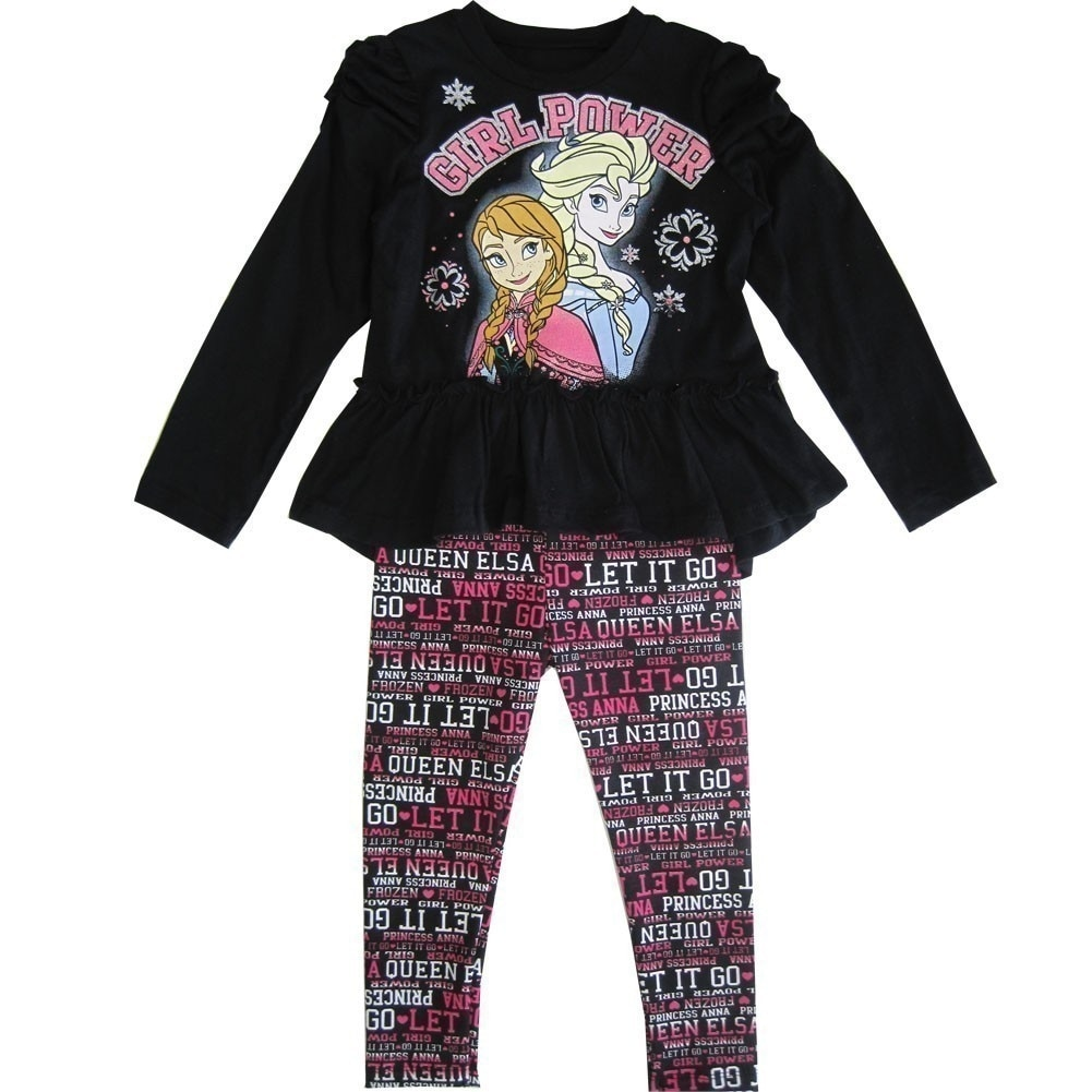 f92fe863b7c9a Shop Disney Little Girls Black Frozen Elsa Anna
