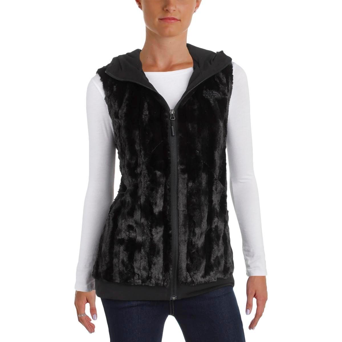 d545da810 The North Face Womens Furlander Outerwear Vest Faux Fur Hooded - l