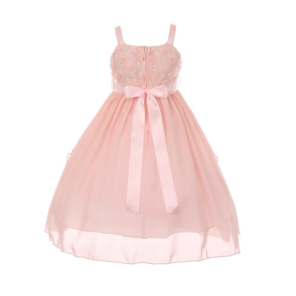 Shop Chic Baby America Girls Blush Flower Chiffon Junior Bridesmaid ...