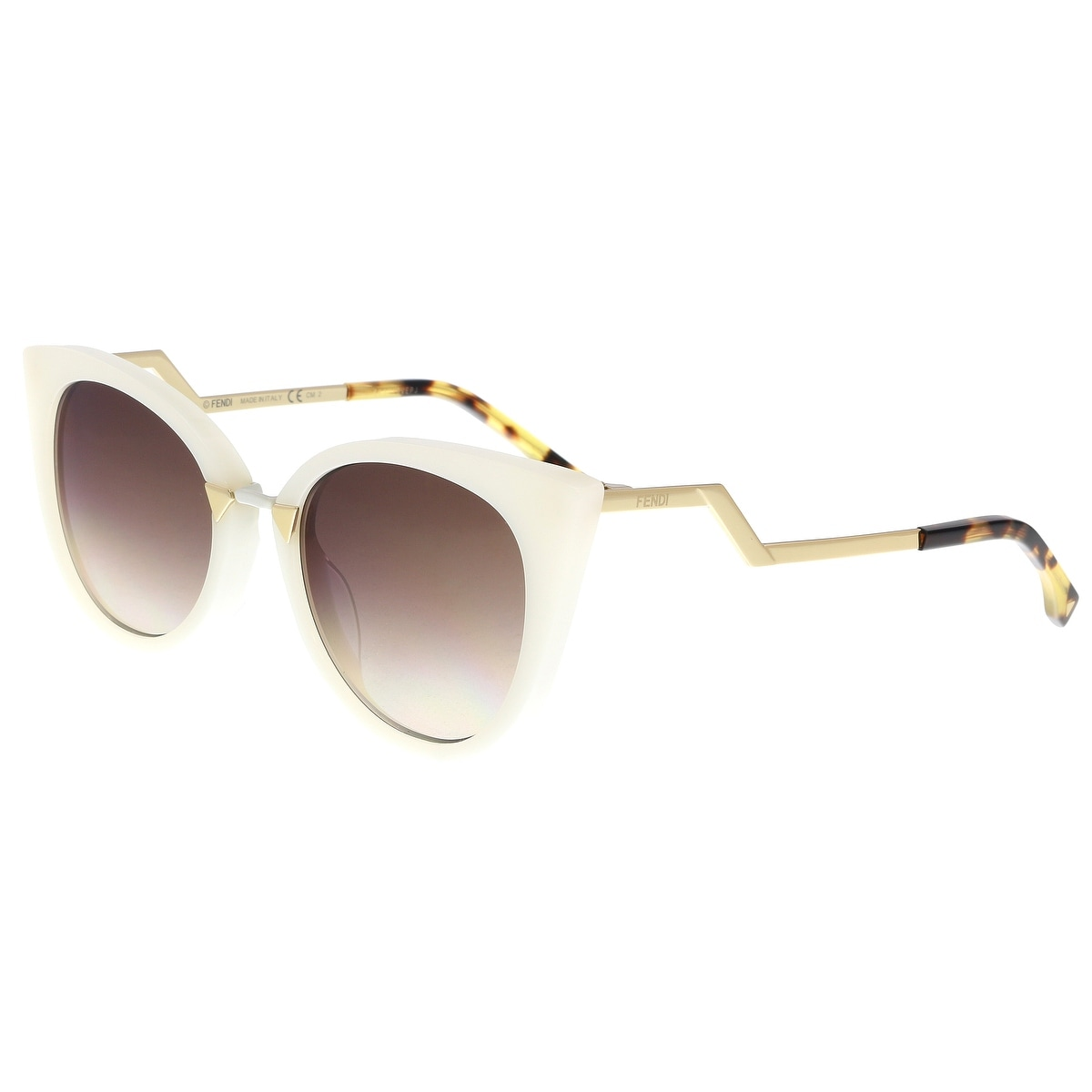872f2808e2d0c Shop FENDI FF 0118 S 0XU3- QH Pearl white Cat eye Sunglasses - 52-20 ...