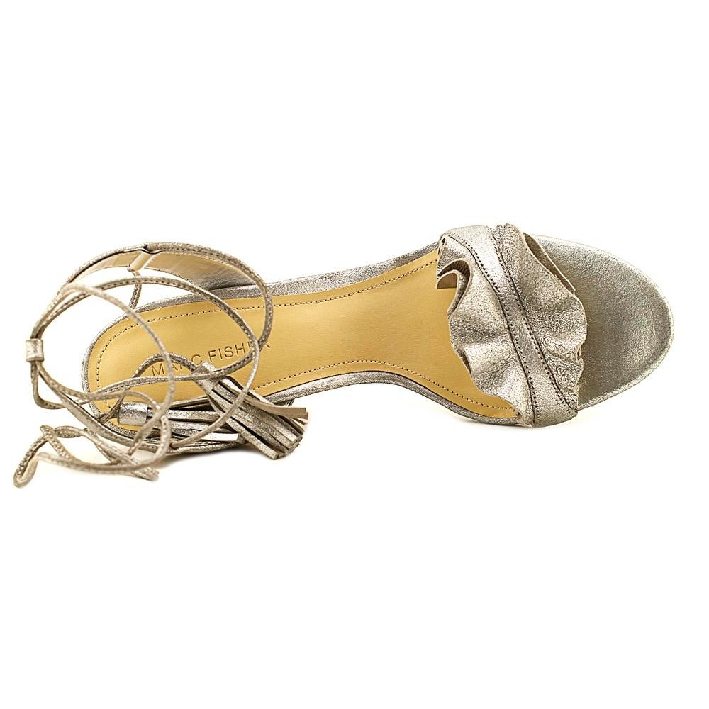 f77ff3572e5 Shop Marc Fisher Bamba Women Open Toe Leather Silver Sandals - Free  Shipping Today - Overstock - 20258233