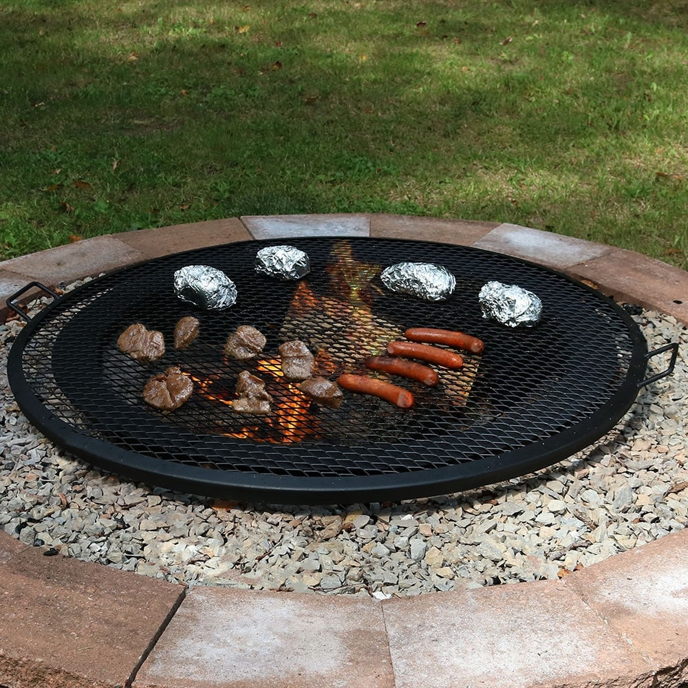 Shop Sunnydaze X-Marks Fire Pit Cooking Grill - Multiple Sizes Available -  Black - On Sale - Free Shipping Today - Overstock.com - 11593851 - Shop Sunnydaze X-Marks Fire Pit Cooking Grill - Multiple Sizes