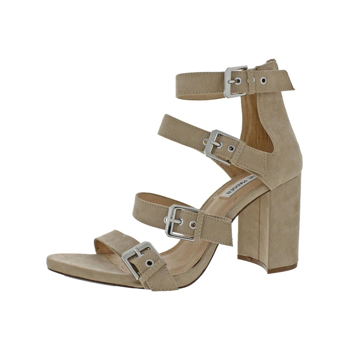 a702c711d8d9 Steve Madden Womens Shani Dress Sandals Strappy Block Heel - 9.5 Medium (B