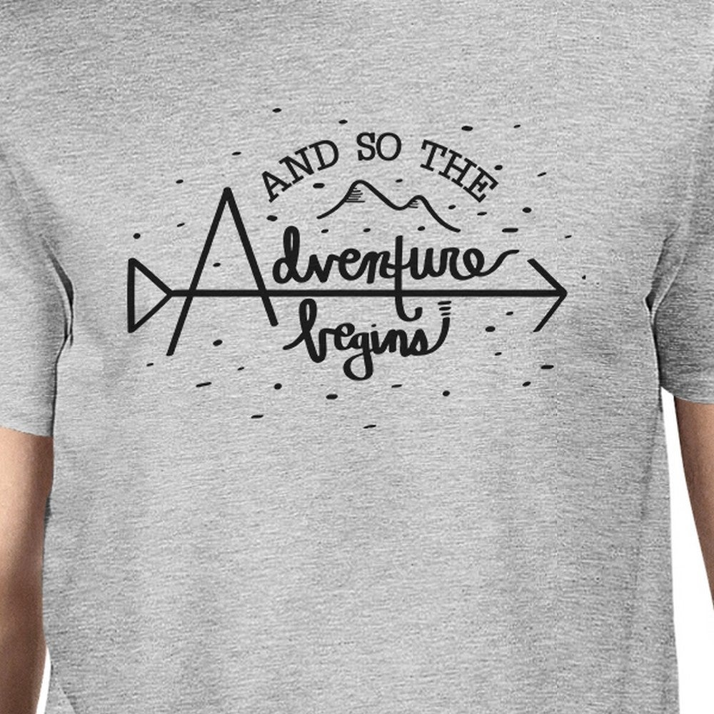 40699cc1 Shop Adventure Begins Mens Grey Unique Graduation Gift Tee Shirt For Son -  Free Shipping On Orders Over $45 - Overstock - 17034137