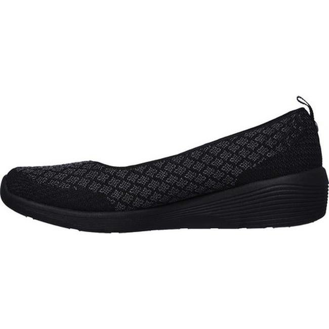 908d291a4d Shop Skechers Women's Arya Get Real Skimmer Black/Black - On Sale - Free  Shipping Today - Overstock - 26270802
