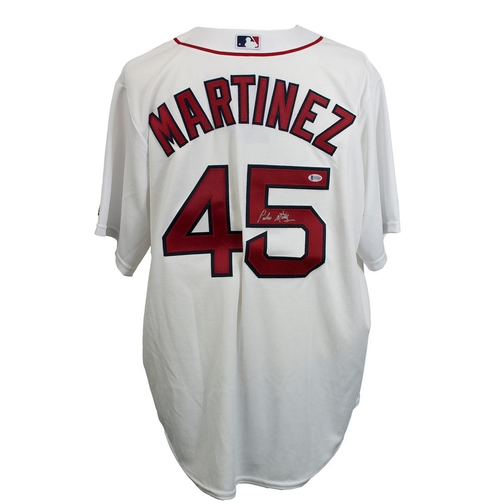 Pedro Martinez Signed Boston Red Sox Majestic White Baseball Jersey BAS 9b7891c5afd