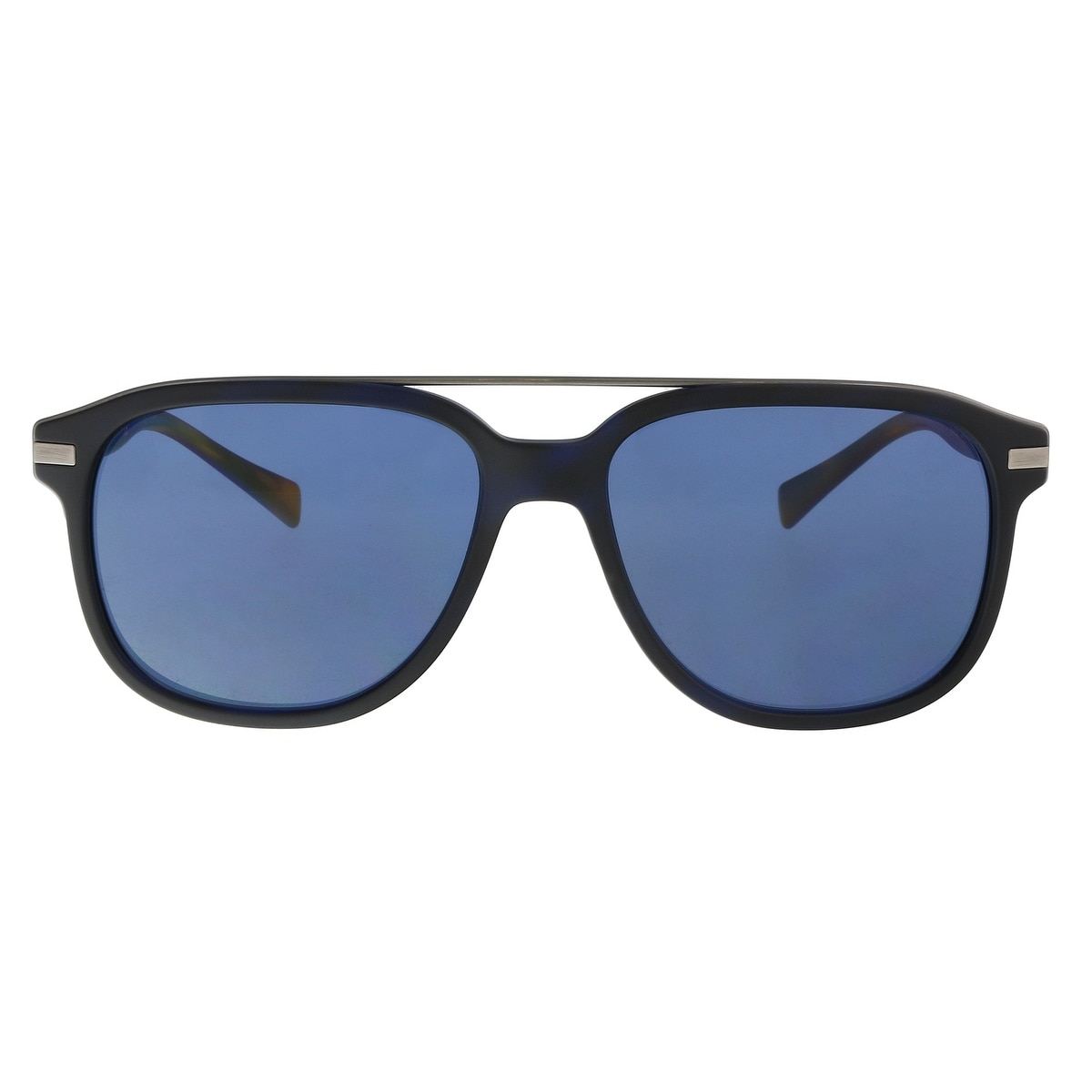 282ecfdbfbff Shop Burberry BE4233 362180 Matte Blue Havana Rectangle Sunglasses -  57-16-145 - Free Shipping Today - Overstock - 21158081