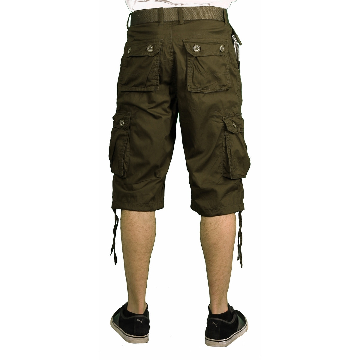 d43adeb52eb6 Shop Gray Earth Young Men s Classic Cargo Shorts - Free Shipping On ...