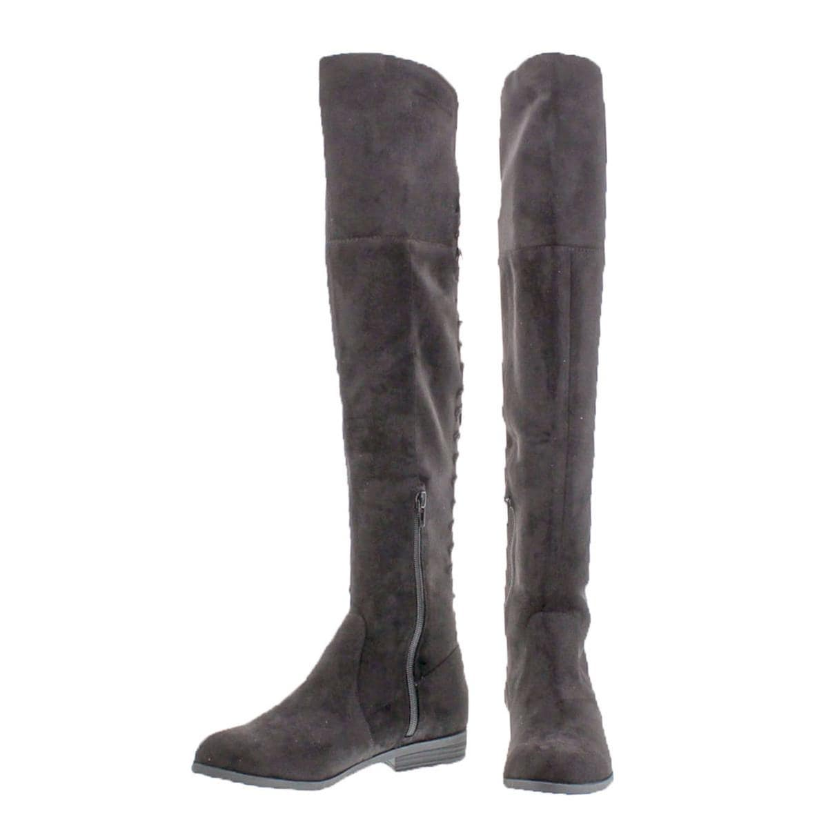 b4e07d250e Shop L4L by Lust for Life Womens Ramsey Over-The-Knee Boots Suedette Lace-Up  - Free Shipping On Orders Over  45 - Overstock - 22025475
