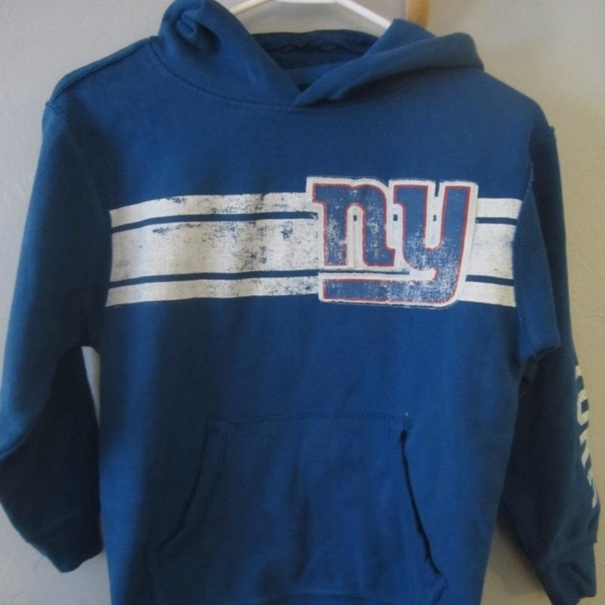 Shop NY YORK GIANTS YOUTH SIZE S SMALL 8 Hoodie Free Shipping On