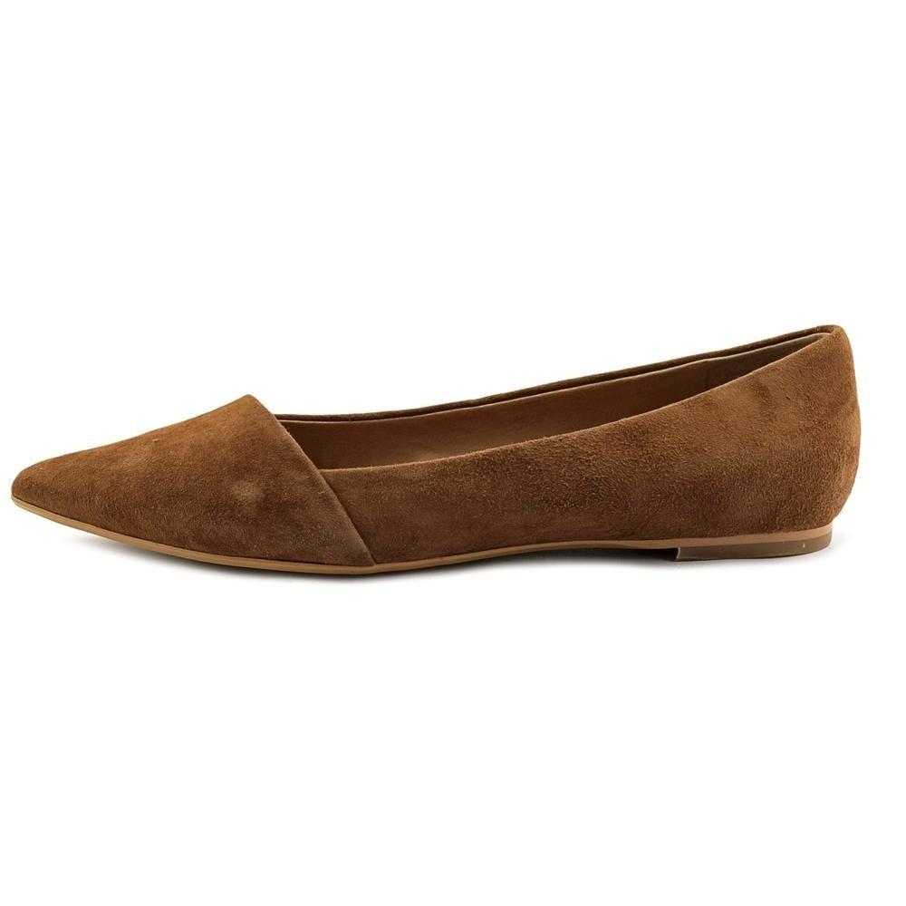 77858eb3af82d4 Shop Crown Vintage Noelle Women Pointed Toe Suede Brown Flats - Free ...