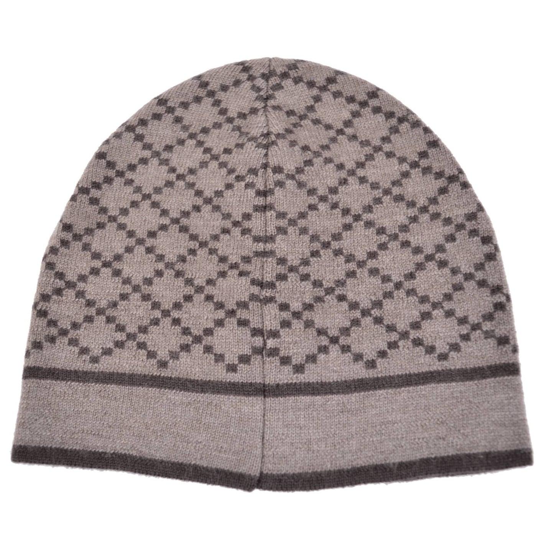 ae1ee998 Gucci 281600 Men's 100% Wool Diamante Taupe Brown Beanie Ski Winter Hat