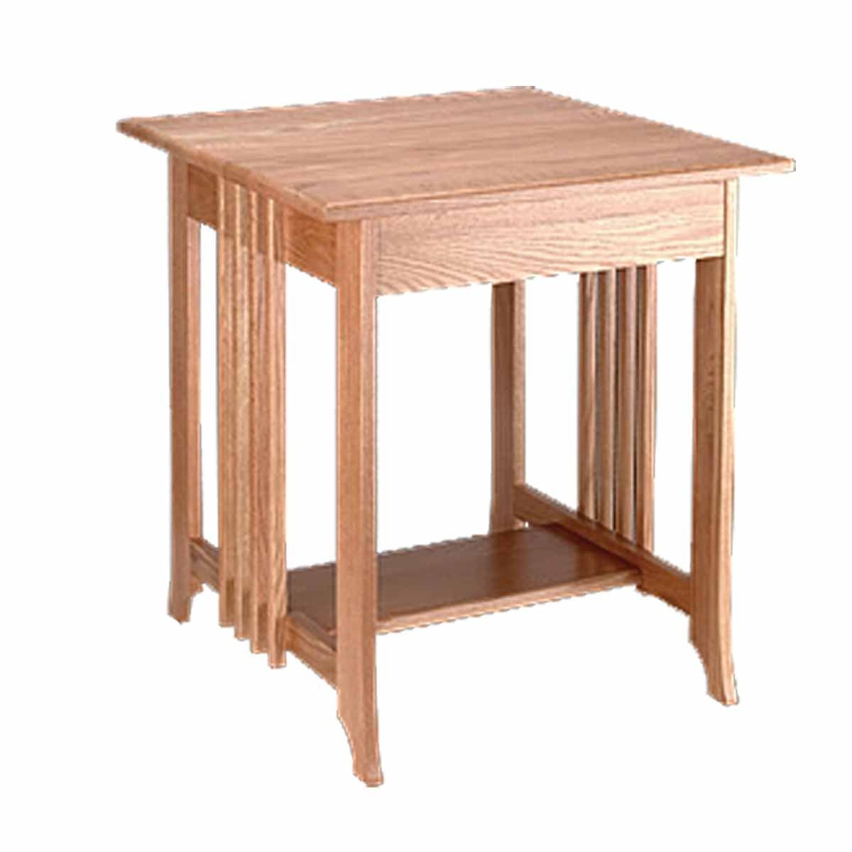 End Tables Living Room Unfinished Oak Mission Table 24 5 Inch Height On Free Shipping Today 13300553