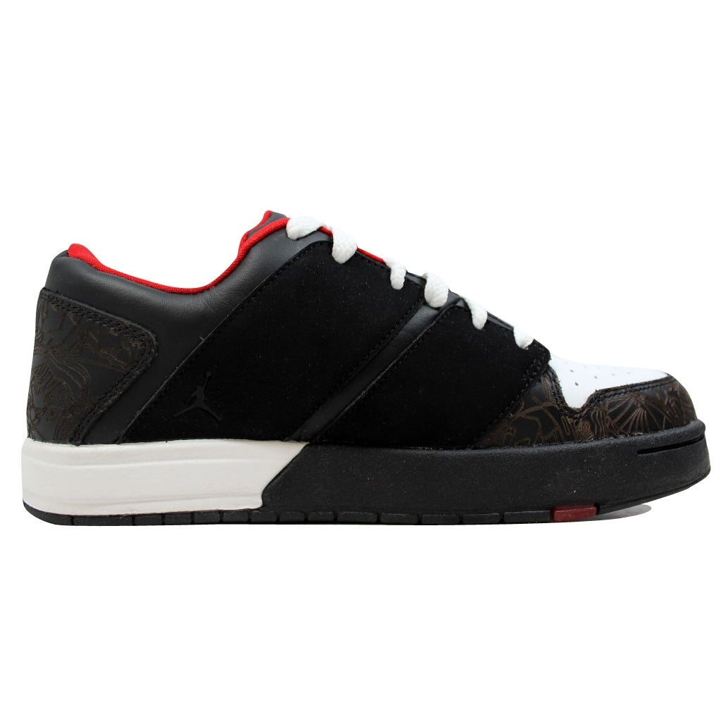 Shop Nike Women s Air Jordan Nu Retro 1 Low Black Sport Red-White  317105-061 - Free Shipping Today - Overstock - 20131727 87336064ab