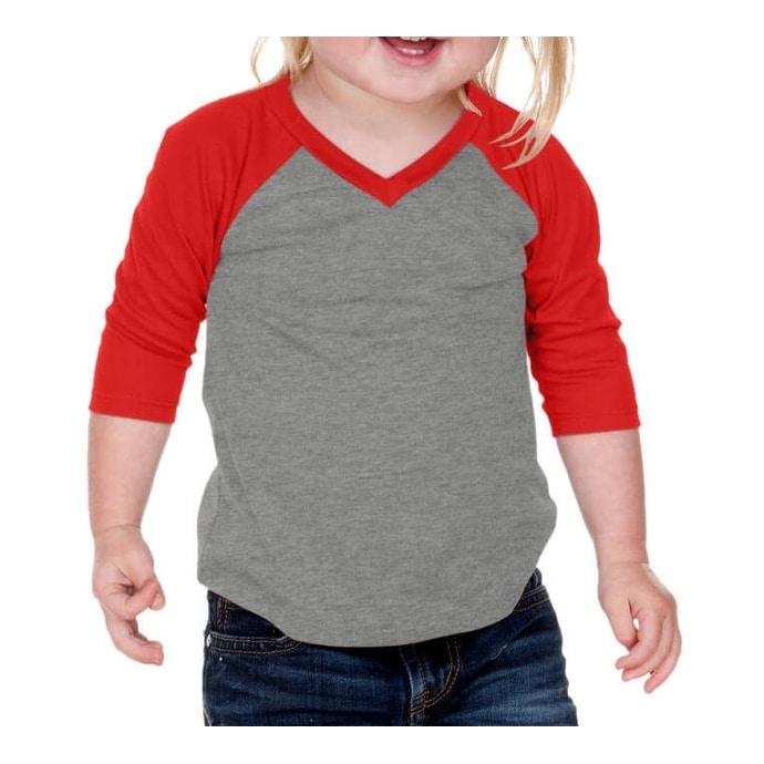 810b233e Unisex Infants Sheer Jersey Contrast V Neck Raglan 3/4 Sleeve - Free  Shipping On Orders Over $45 - Overstock.com - 19898086