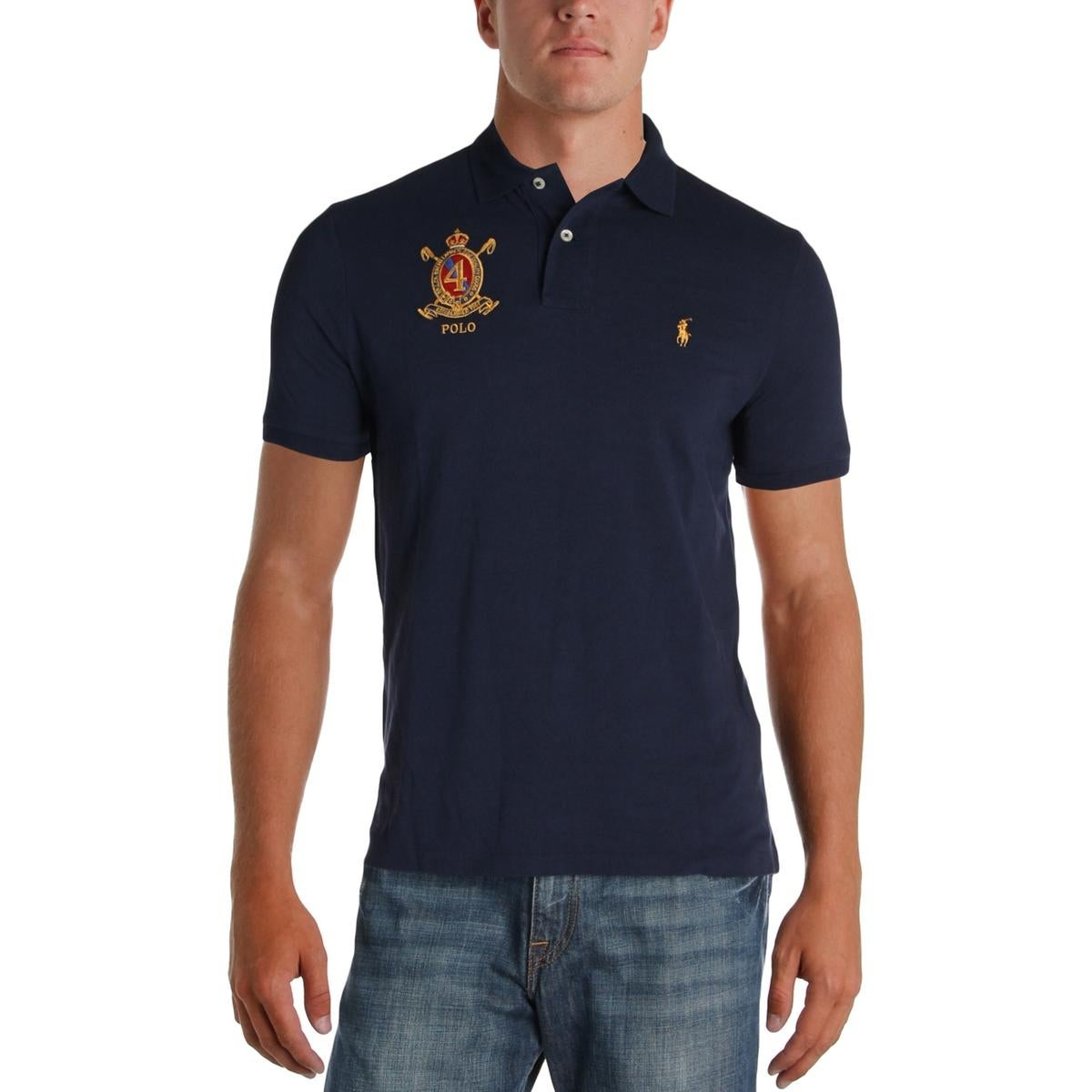 Shop Polo Ralph Lauren Mens Polo Shirt Embroidered Classic Fit
