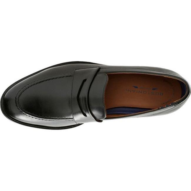 da63e7da498 Shop Bostonian Men s Mckewen Step Penny Loafer Black Full Grain Leather -  On Sale - Free Shipping Today - Overstock - 20646159