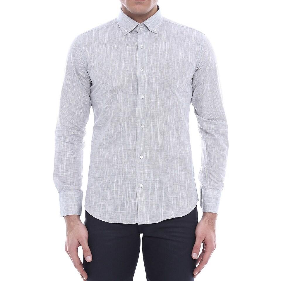 cfd61b1317a Shop WSS WESSI MENSWEAR Dexter Men s Shirt in Gray - Free Shipping ...