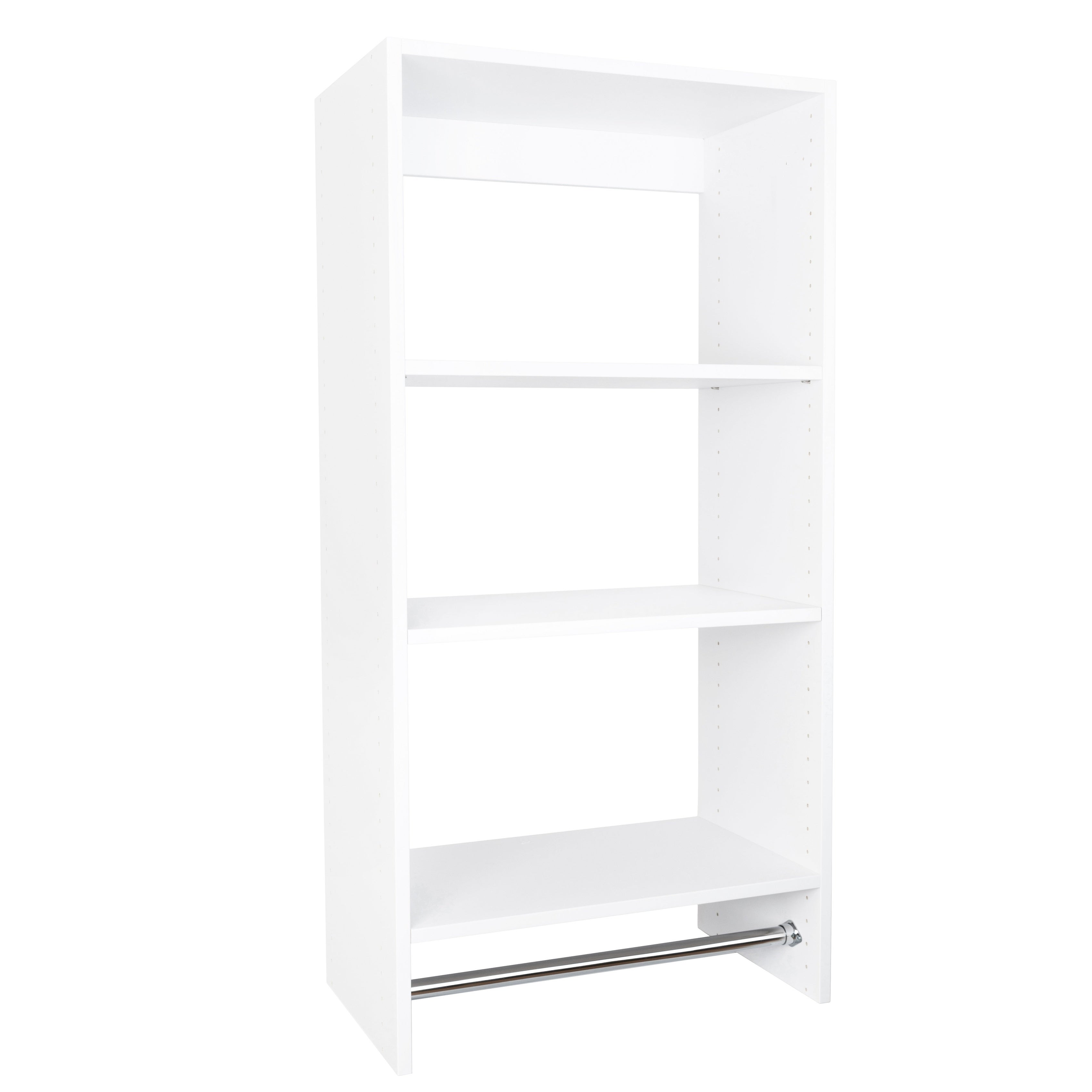 Shop Modular Closets Plywood Short Hanging With Upper Shelves Closet System    On Sale   Free Shipping Today   Overstock.com   21282073