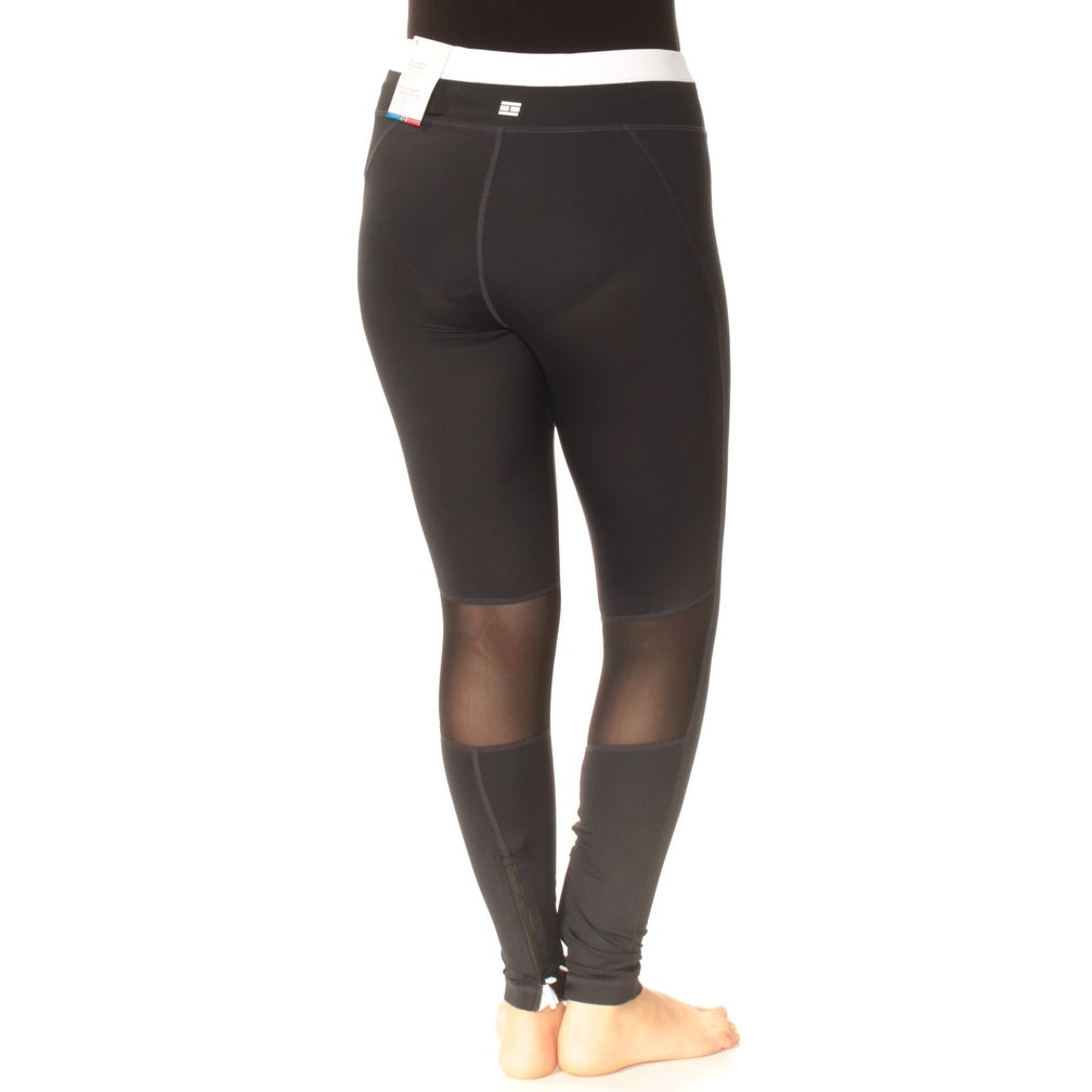 fc6842299bb39 Shop TOMMY HILFIGER Womens Black Ankle Zip High Rise Active Wear Leggings  Size: S - Free Shipping On Orders Over $45 - Overstock - 24058360