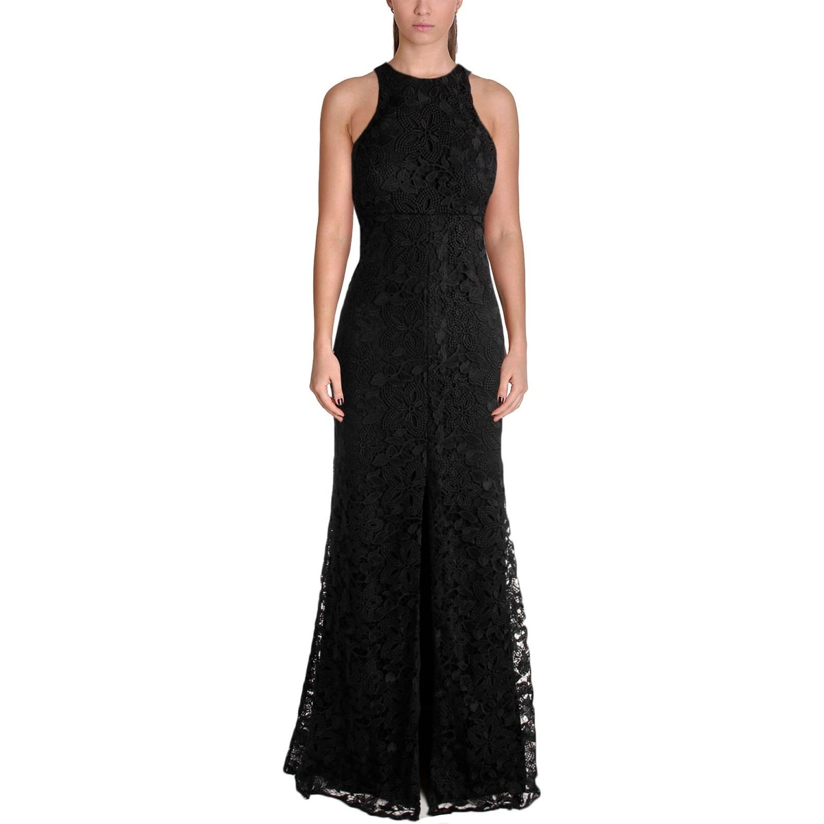 Shop Vera Wang Womens Evening Dress Lace Slit - Free Shipping Today ...