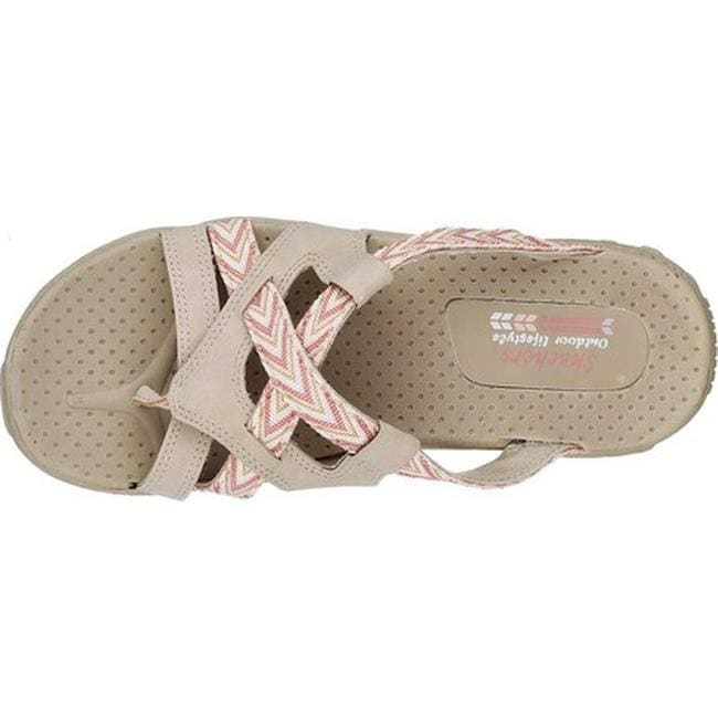 6dd89830e8aa Shop Skechers Women s Reggae Soundstage Thong Sandal Natural - On Sale -  Free Shipping Today - Overstock - 19754638