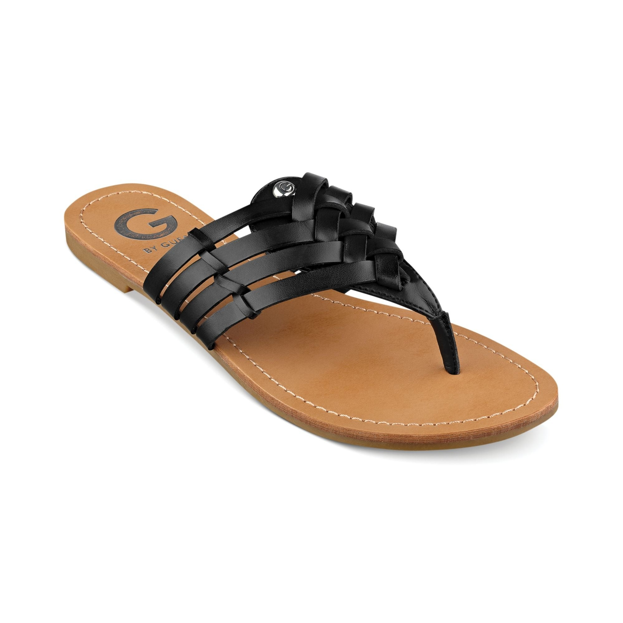 42bf0d2bcec Shop G By Guess Women s Loann Thong Sandals - Free Shipping On Orders Over   45 - Overstock.com - 15426740