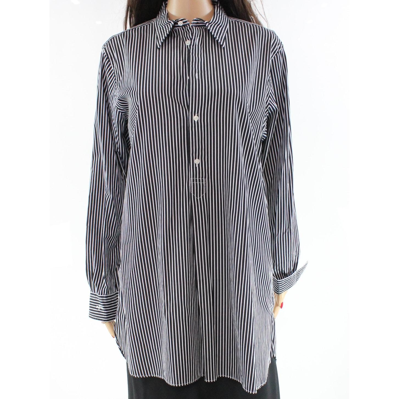 4a93e58b Polo Ralph Lauren Black And White Striped Dress Shirt