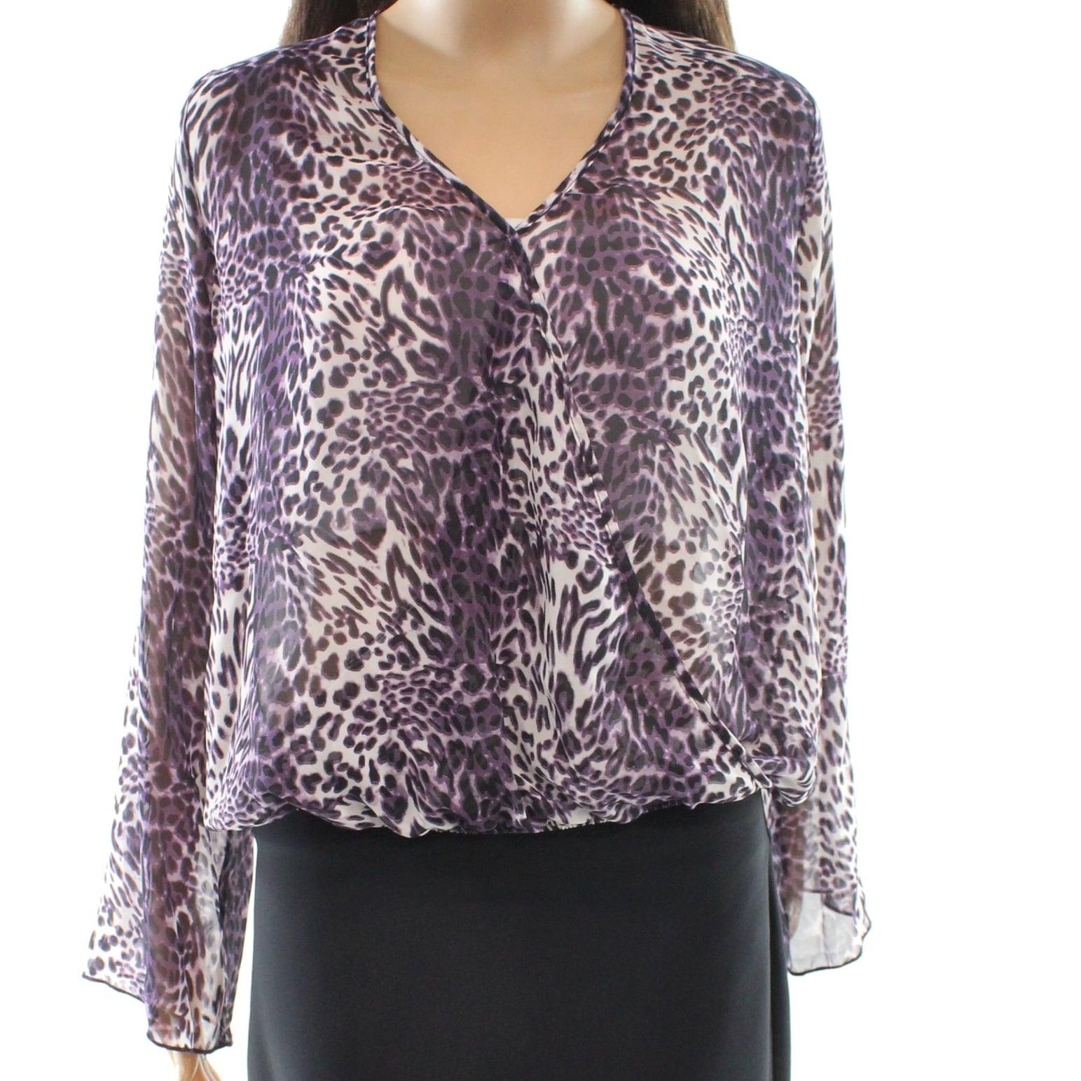 Shop Wayf New Purple Womens Size Medium M Animal Print V Neck