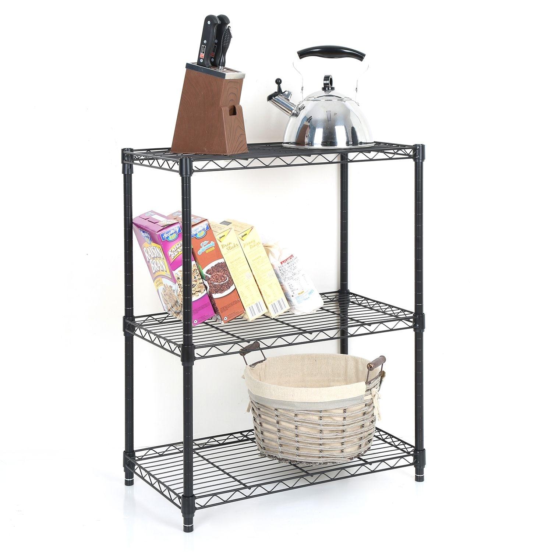 Tidy Living - 3 Tier Wire Shelf Heavy Duty Adjustable Organization ...
