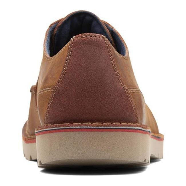 bfd9ee79c9b Shop Clarks Men s Vargo Walk Sneaker Dark Tan Leather - Free Shipping Today  - Overstock - 25586182